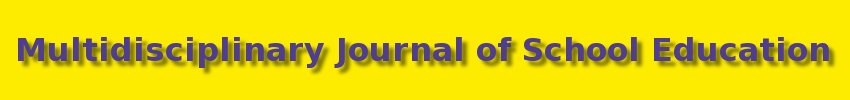 Multidisciplinary Journal of School Education